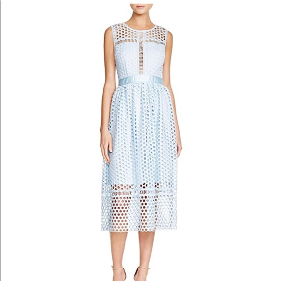 Aqua Dresses | Womens Sleeveless Circle Lace Midi White | Poshmark